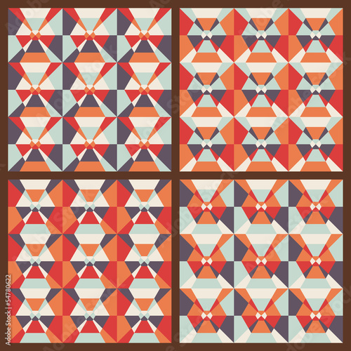 Vector set: seamless geometric patterns