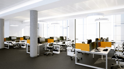 Moderne Arbeitsplätze - modern open workspace