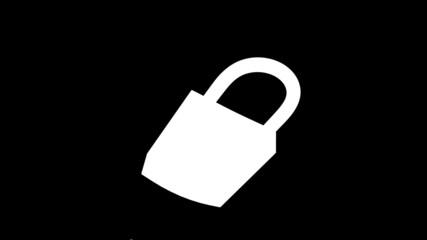 padlock home security opened alpha matte