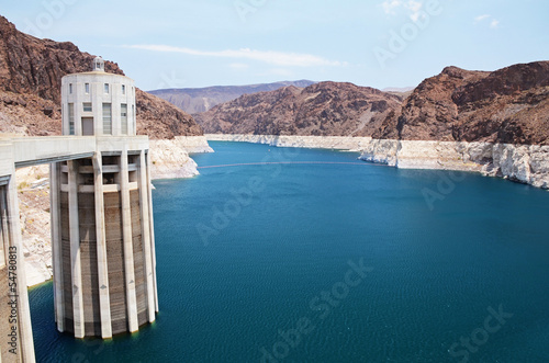 Hoover Dam, border between the US states of Arizona and Nevada