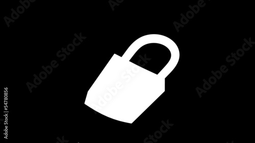 padlock home security opened alpha matte