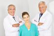 Team aus Ärzten und MTA im Krankenhaus