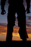 Silhouette cowboy chaps from back poster