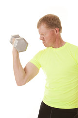Man weight one curl expression
