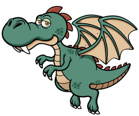 Vector illustration of dragon cartoon