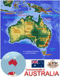 Australia Oceania national emblem map symbol location