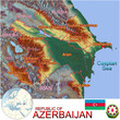 Azerbaijan Asia national emblem map symbol location