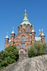 Uspenski Cathedral in Helsinki Finland