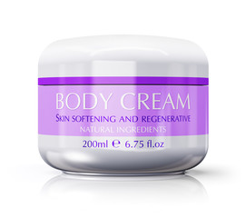 Container with skin cream