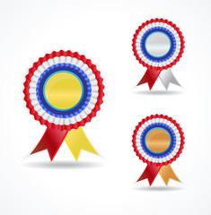 Winner medalion ribbon rossete