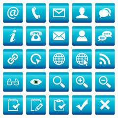 Set 2: Blue Web Buttons Icons