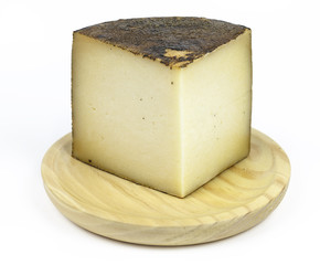 manchego cheese, typical of Spain, isolated