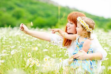 fun in daisy field