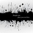Ink grunge banner.