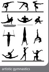 Artistic gymnastics, vector