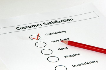 Customer Satisfaction Survey Outstanding Red Tick