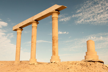 Ancient Ruins at the desert, Egypt
