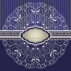 Beautiful invitation with lace vector