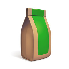 Paper Bag Package Of Coffee, Salt, Sugar