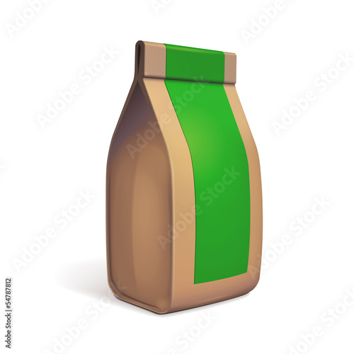 Paper Bag Package Of Coffee, Salt, Sugar