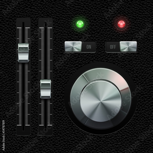 Hi-End UI Analog Volume Equalizer Level Mixer