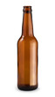 Empty beer bottle. Isolated with clipping path