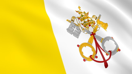 the flag of the Vatican state
