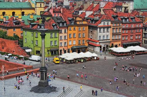 Fototapeta Warschau mit Sigismundsäule
