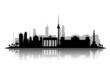 Fototapeten,berlin,silhouette,skyline,vektor