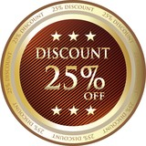 Twenty Five Percent Discount Gold Medal