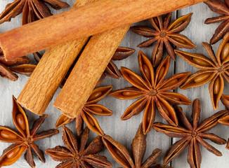 Anise stars & cinnamon