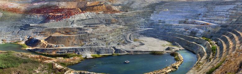 Open air mining.Milos island.Greece.