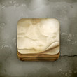 Old paper app icon, old style