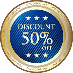 Fifty Percent Discount Blue Medal