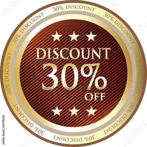 Thirty Percent Discount Gold Medal