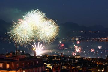 Fireworks in Lausanne, Switzerland
