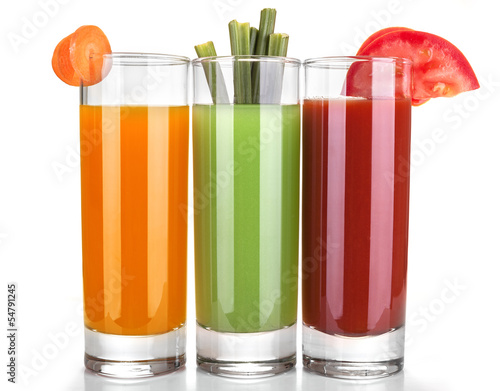 juice of carrots, celery and tomatoes