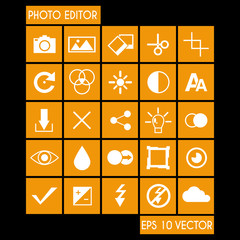 Photo Editor Icon Set