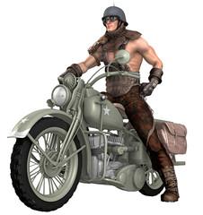 Biker / Motorradfahrer / Steampunk 2