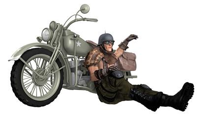 Biker / Motorradfahrer / Steampunk 1