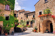 Picturesque corner of a quaint hill town in Italy - 54793657