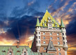 Quebec City, Canada. Wonderful view of Hotel Chateau Frontenac,