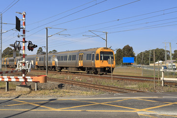 Railway crossing in Brisbane