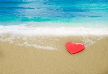 Heart shape on the beach