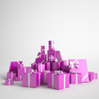 Lots of pink gift boxes