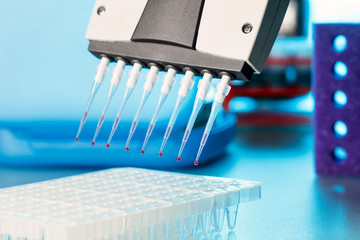 multi pipette for a multiplication pcr reaction