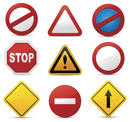 Road Sign Set.Vector