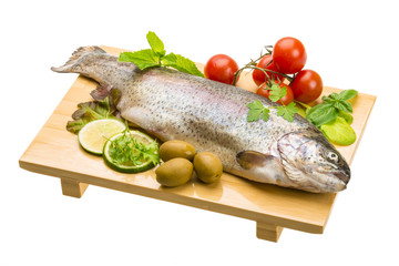 Fresh raw rainbow trout