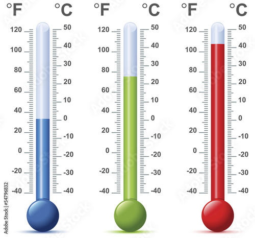 thermometer vector - 54796832