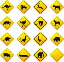 Animal traffic sign.Vector